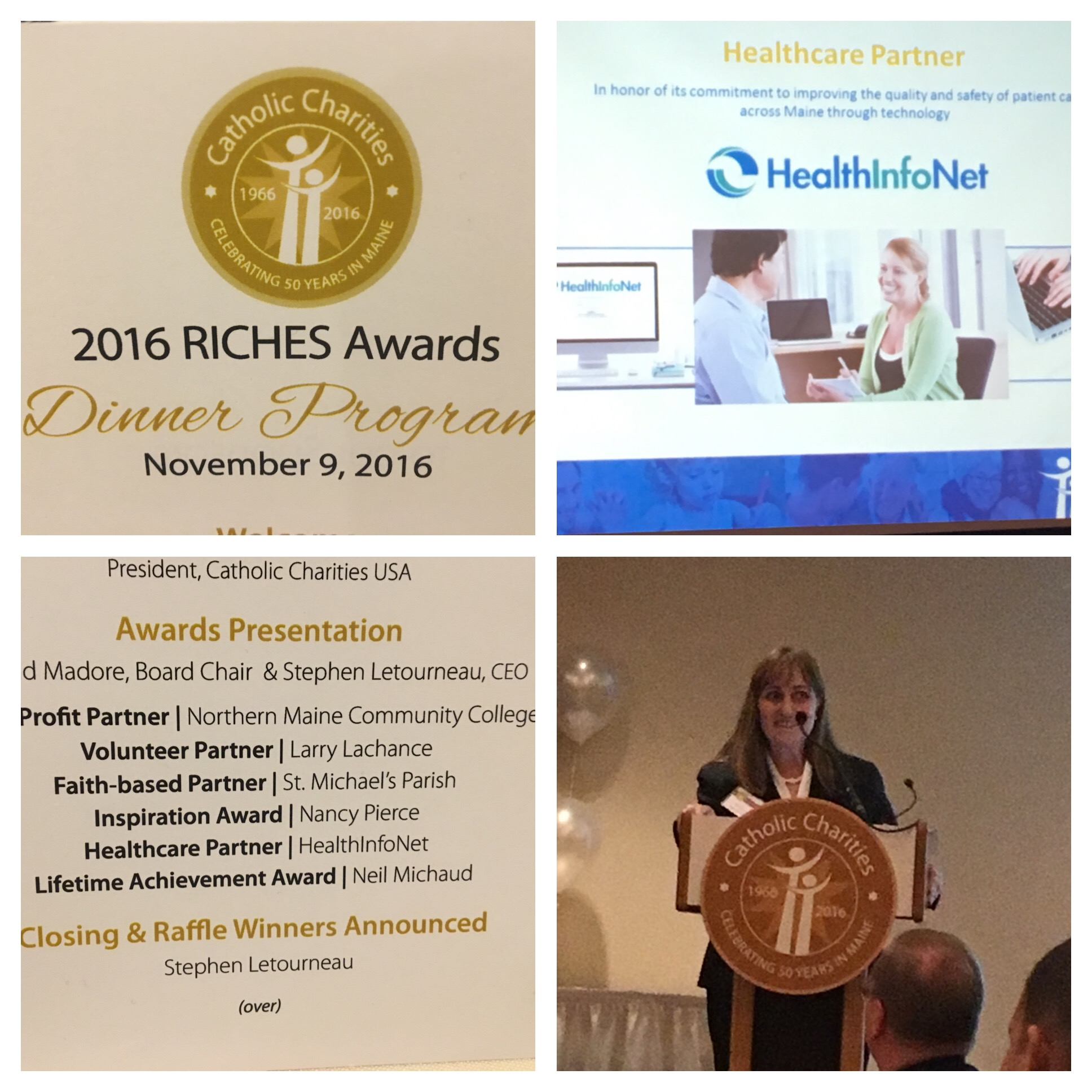 HealthInfoNet Receives Healthcare Partner Award from Catholic Charities Maine
