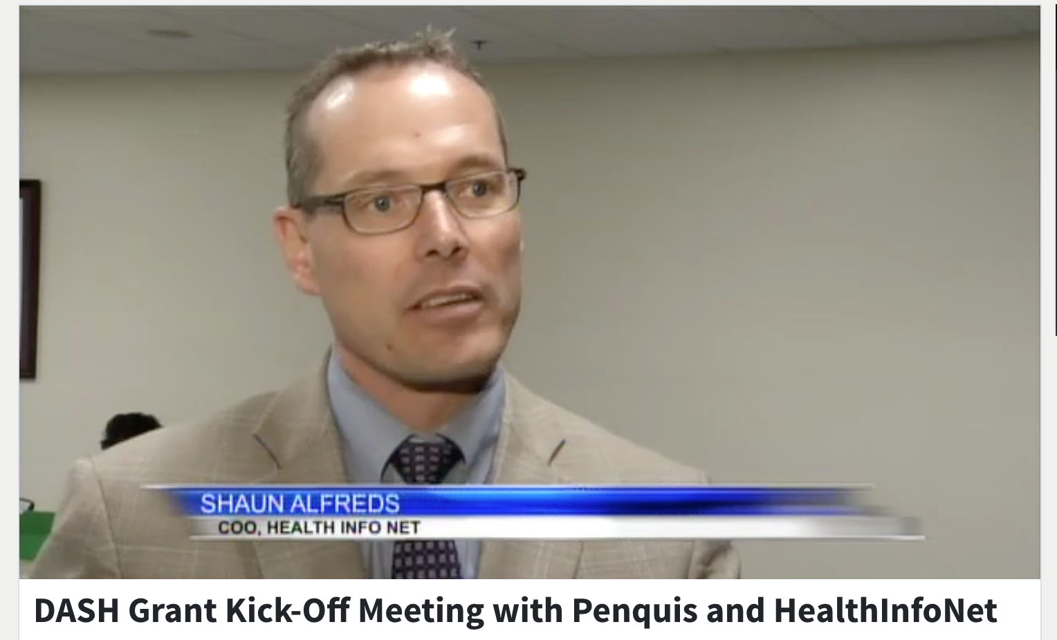 DASH Grant Kick-Off Meeting with Penquis and HealthInfoNet