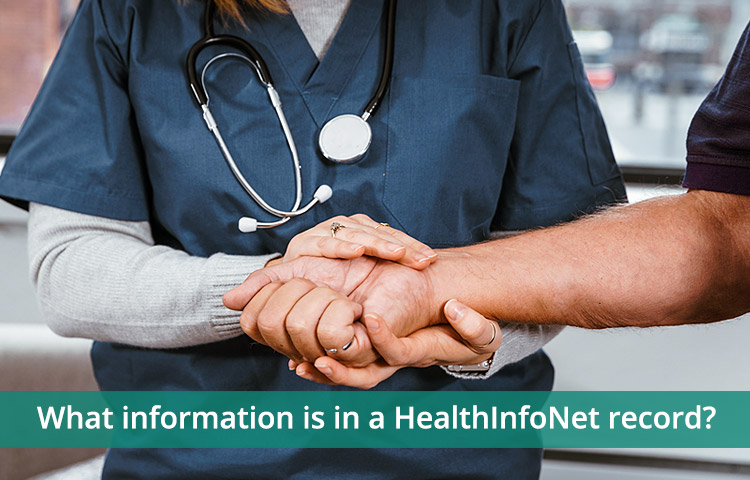 What information is in a HealthInfoNet record?